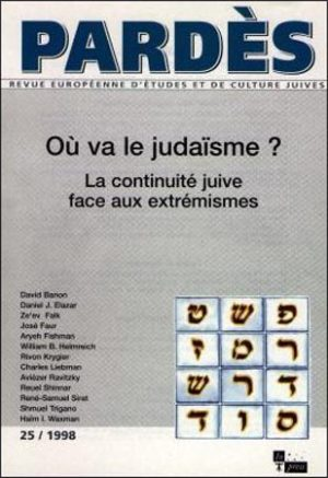 Pardès n°25 – Où va le judaïsme ?