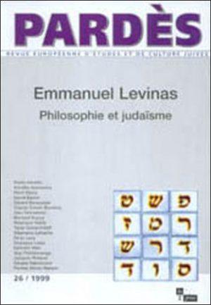 Pardès n°26 – Emmanuel Levinas  Philosophie et judaïsme