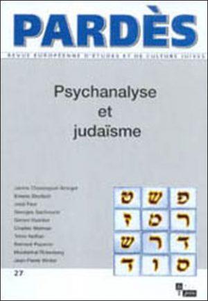 Pardès n°27 – Psychanalyse et judaïsme