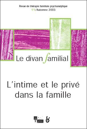 n°11 – L'intime et le privé dans la famille