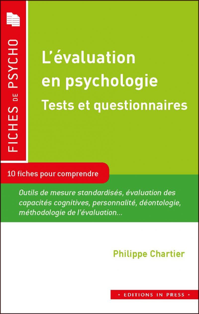 L'évaluation en psychologie | Éditions in Press