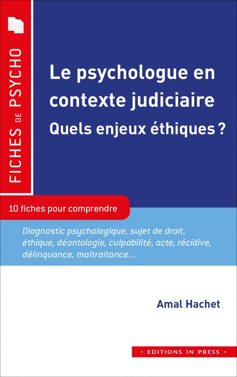 Le Psychologue En Contexte Judiciaire Editions In Press